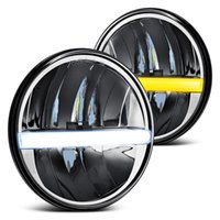 Ronda Bombilla del faro de 7 pulgadas LED Faro Kit DRL Daymaker proyector faro Wrangler