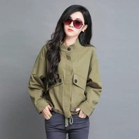 2020 New Spring Autumn Women Jacket Loose Pocket Casual Crop...