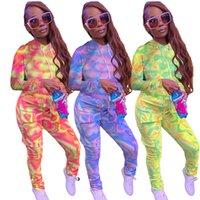 New Women 2 Piece Tracksuits Set Fashion Contrast Color Hood...