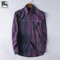 Marka Erkek İş Casual gömlek erkek uzun yeni moda erkek gömlek Q16 kontrol sosyal erkek tişört slim fit camisa Masculina çizgili kol