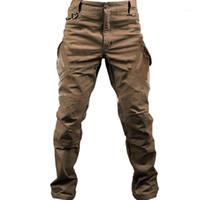 PaveHawk IX9 Случайный грузовые штаны Мужчины Тактическая армия Треккинг Пешие прогулки Упругие Жулки для спортивных штангой Женщины Черные брюки1
