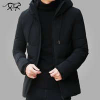 Brand Jacket Clothes Casual Stand Hooded Collar Fashion Winter Coat Men Parka Outerwear Warm Slim West Jackets