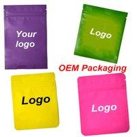 OEM Vape Cartridge Packaging Logo personalizzato per spessa olio vape cart cart zipper serratura borse per pacchetti per flower flower secco herb herb vaproizer busta atomizzatore