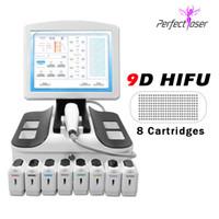 Máquina de elevación de cara HIFU 3D Price Fábrica Precio de fábrica Máquina de la mejor calidad Máquina de belleza de elevación de la cara de la piel para la venta 8 cartuchos Envío gratuito