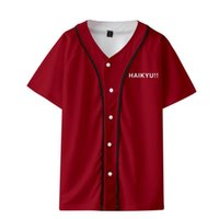 Haikyuu !! 3D stampa baseball freddo casuale moda di base Pulsanti Streetwear popolari Hipster estate delle donne / uomini di baseball T-shirt