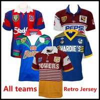 Australien Alle Teams Home Klassische Retro-Version NSW Highlanders Rugby-Jersey-Hemd QLD Rugby-Trikots