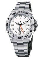 Main de montre en gros et au détail, boîtier en acier inoxydable, boucle pliante, lunette en acier inoxydable, verre saphir, quatre timing à aiguille, double Ti