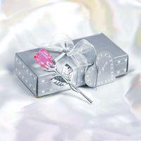 낭만적 인 결혼식 발렌타인 데이 선물 여러 가지 빛깔의 크리스탈 로즈 호의 다채로운 상자 파티 호의 크리 에이 티브 기념품 장식품 Vtky2188