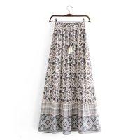 2021 Spring Street Мода женская напечатана A-Line Skirt V1