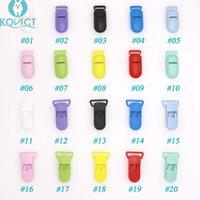 Kovict Baby bico plástico Fecho colorida de silicone Beads Cadeia Fazendo acessórios Ferramentas de alimentação para Infant chupeta clipe