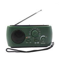 Récepteur radio multifonction AM / FM Dynamo Solaire Puissant Manivelle Générateur de manivelle Green1