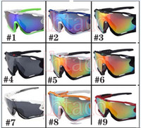 Nuovi uomini di modo di modo del vento occhiali da sole sportivi occhiali da donna grandi occhiali uomo ciclismo sport all'aperto siderurgo occhiali da sole 9color spedizione gratuita