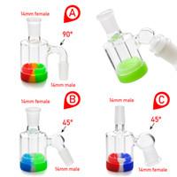 Prix usine mini cendrier en verre avec 10 ml de cire en silicone de cire JAR 14mm-14mm articulation pour tuyau de tabagisme verre bangs livraison gratuite