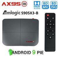 AX95 DB Amlogic S905x3-B 스마트 안드로이드 9.0 TV 박스 4GB RAM 32GB 64GB 128GB ROM 4K HD 셋톱 박스 지원 Dolby Blu-ray BD MV ISO