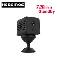 HEBEIROS 1080P Ultra Mini Caméra de batterie Base magnétique Portable IP WiFi Caméra Caméra de Consommateur à faible consommation de consommateur SD de la carte SD Dash1