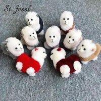 Llaveros llavero llavero lindo lana real lana alpaca llavero pompoms regalo cumpleaños peluche muñeca adornos de coche bolso llavero encanto Chains1