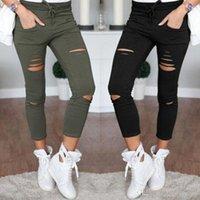 Moda 2020 Yeni Kadın Ince Delik Sporting Tayt Spor Eğlence Spor Ayaklar Ter Pantolon Siyah Gri Lacivert Hollow Pantolon
