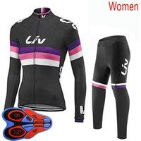 Весна / осень Ливская команда 2021 про женщин Велоспорт Джерси набор женский велосипедные наборы для велосипедов гоночные велосипед одежды костюм MTB Unifore Y21020108