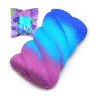Jumbo Squishy Galaxy Marshmallow Super Slow Rising Creme Scented Pacote Original Pacote Telefone Squeeze Toy Y0110