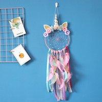 Camera da letto Wall Hanging Decorazione Unicorno Arredamento per la casa Dream Catcher Ornament Cars Soggiorno Piume Pendenti Multi Color 15ms J2