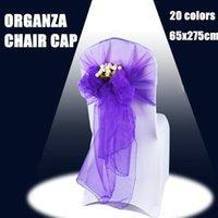 Sashes organza chaise Cap Bows Mariage Partie de mariage Evénement XMAS Banquet Décor Tissu 18cm x 275cm