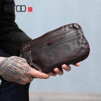 HBP Aetoo handmade borse a mano maschio grande capacità multi-card mano holding bag maschio testa strato vacchetta a mano lunga borsa
