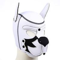 Cor misturando filhote de cachorro jogar cão capa máscara bdsm bondage retenção cinta jogos adultos papéis escravo papel brinquedos sexuais para casal
