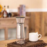 USB طاحونة القهوة الكهربائية المقاوم للصدأ قابل للتعديل المهنية أدوات القهوة مطحنة القهوة أدوات المطبخ مع فرشاة 1