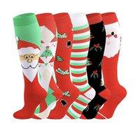 2020 Weihnachten Erwachsene Lange Socken CartoonSnowman Striped gedruckte Frauen Männer Weihnachten socking beiläufige Sport-Winter Home Kleidung E101601