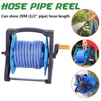 Portable Garden Hoses Reel Garden Pipe Storage Cart Pipe Winding Tool Rack for 20m Watering Hose Reel Organizer For Home