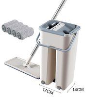 스퀴즈 매직 청소 맙스와 양동이 손을 피하십시오 마이크로 화이버 청소 천 주방 바닥 청소 도구 T200612