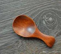 Деревянная мини-ложка, Schima Суперб Малой Чайной Оригинальность Кулинария Инструменты Деревянная Посуда Burlywood 8 * 3.5cm бесплатная доставка