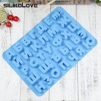 SILIKOLOVE russisches Alphabet Letter-Silikon-Kuchen-Form-Schokoladen Gelee-Eis-Behälter-Form-DIY Kuchen verziert Werkzeug