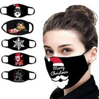 ABD Stok Yetkinin Baskılar Yüz Maskesi Yıkanabilir Earloop Yüzsüz Baskılı Noel Maskesi Dekorasyon Yüz Cosplay Noel Partisi Maskeleri için FY9246