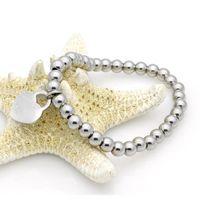 Nueva marca de moda mujer de acero inoxidable por favor regrese a Heart Charms Pulsera Pulsera 1pcs Drop Shipping