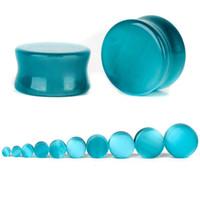 5-25mm Naturstein-Ohr-Stecker-Doppelt-Aufflackern-Ohr-Messgerät Expander Stein Stecker und Tunnel Ohr Stretcher für Piercing-Schmuck