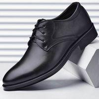 حار بيع 2019 الاحذية الجلدية للرجال الأعمال الجديدة أحذية رجالية رسمية الحذاء حتى الأحذية عارضة البرية size37-38