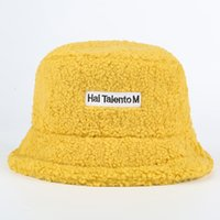 Faux Fur Winter Bucket Hat For Women Girl Fashion Solid Thickened Soft Warm Fishing Cap Outdoor Lady Plush Fluffy Panama 201009