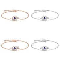 Mode Vintage Evil Eye Charm Armband Kristall Zirkon Kette Link Armbänder Armreifen Für Frauen Mädchen Erklärung Schmuck Geschenk 29 N2