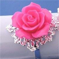 Смола розовая салфетка для салфетки цветок салфетка держатель западных ресторанов свадьба свадебные вечеринки обеденные столовые украшения дома аксессуары 1 7ZR H1