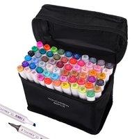 TouchNew Alcohol Sketching Marcadores 40/60/80/168 Colores para marcadores de dibujo Caligrafía Letras Pen Arte Support Manga Coloring 201126