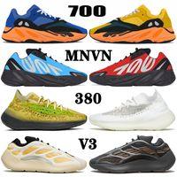 sapatos yeezy boost MNVN 700 v3 380 kanye west yezzy yeezys Azareth Runner Azael Alvah Alien Mist Carbon Blue Vanta Tênis de corrida masculino feminino esportivos