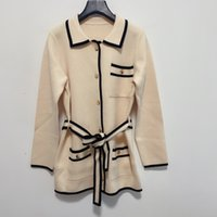 2020 Milán Pista suéter de gama alta Jacquard Cardigan mujeres suéter de cuello de solapa de manga larga del diseñador de las mujeres suéter 1011-2