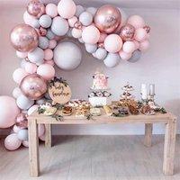1 مجموعة البالونات المعكرون جارلاند حديقة القوس النثار بالون الزفاف بالون قوس حامل عيد ميلاد حزب ديكور أطفال استحمام الطفل F1230