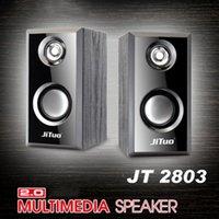 Haut-parleur de combinaison de haut-parleurs en bois 2.0 USB multimédia Subwoofer portable Système acoustique de colonne de son pour ordinateur de bureau Boombox