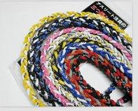 Германиевые титановые плетеные 3 веревки торнадо ожерелья для спортивного футбольного бейсбола 18 дюймов, 20 дюймов 22 дюйма 2021