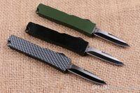Mini Key Fivle Faca Alumínio T6 Verde Caixa Verde Fibra Dupla Ação Dobrável Faca De Presente Faca de Presente Xmas Facas EDC Ferramentas 1 PCS