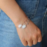 Luxury Rose Gold Color Chain Link Bracelet for Women Ladies Shining Cubic Zircon Crystal Jewelry mini cz charm opal paved