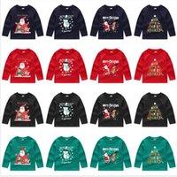Weihnachten Kinder Pullover für Kinder Jungen Mädchen Sweatshirts Sequin-lange Hülsen-Strickjacke T-Shirt mit Rundhalsausschnitt Pullover Tops Kleidung Outwear E92403