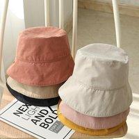 ワイドブリム帽子日本の漁師の帽子女性夏の韓国風の日焼けぬシンプルなカジュアルな擦り切れたエッジバケツ折りたたみ式洗える布